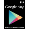 Google Play $25 (Usd) (Usa/North America) Gift Card