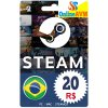 Steam Gift Card 20 BRL Reals  Steam Wallet Brasil Key Global