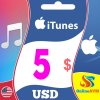 Apple iTunes Gift Card 5 USD iTunes Key UNITED STATES