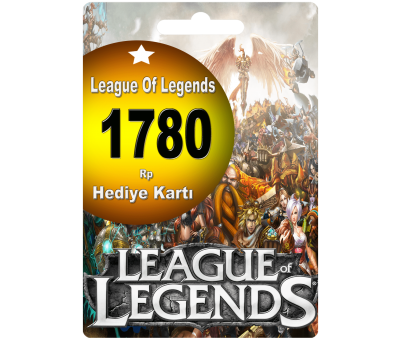 League Of Legends Türkiye 1780 Riot Point Rp Lol Rp