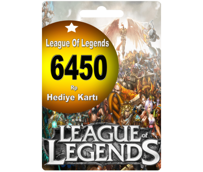 League Of Legends Türkiye 6450 Riot Point Rp Lol Rp