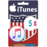 $5 Apple Itunes Gift Card