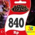 League Of Legends Türkiye 840 Riot Point Rp Lol Rp