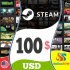 Steam Gift Card 100 USD Steam Key NORTH AMERICA