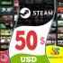 Steam Gift Card 50 USD Steam Key NORTH AMERICA