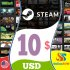 Steam Gift Card 10 USD Steam Key NORTH AMERICA