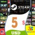 Steam Gift Card 5 USD Steam Key NORTH AMERICA
