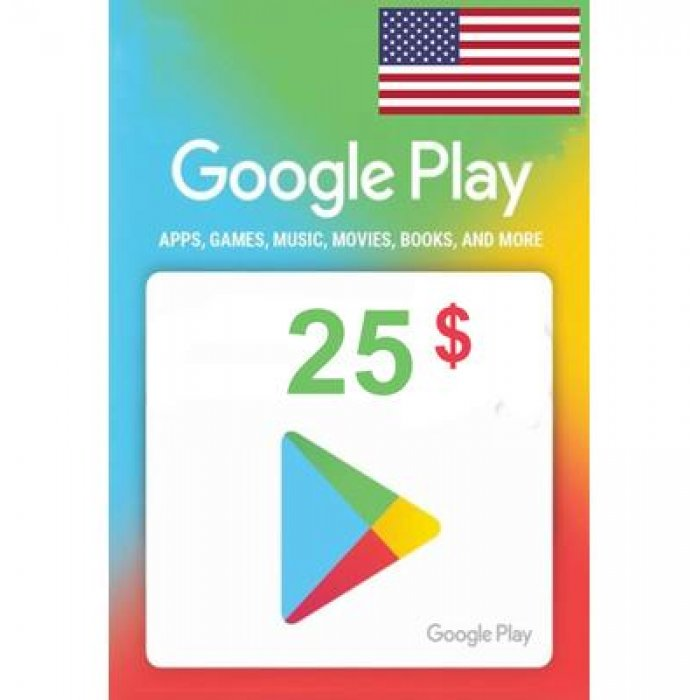 Google Play Gift Card 25 USD Google Play CD Key Region: US