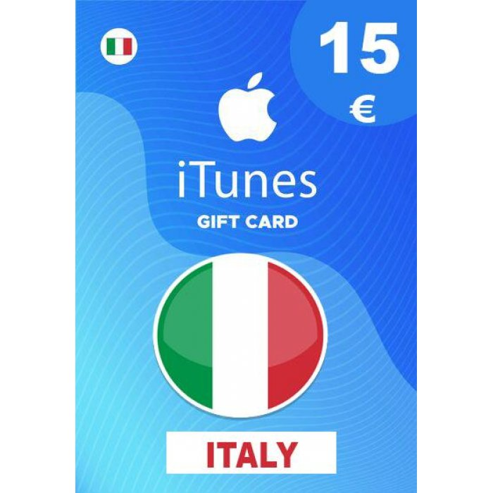 Apple iTunes Gift Card 15 EUR iTunes Key İtaly