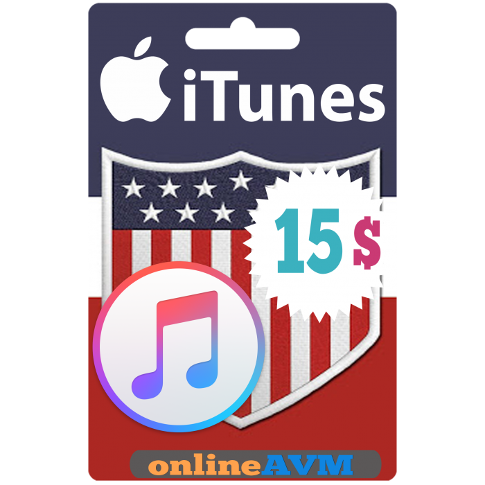 Apple iTunes Gift Card 15 USD iTunes Key USA(America)