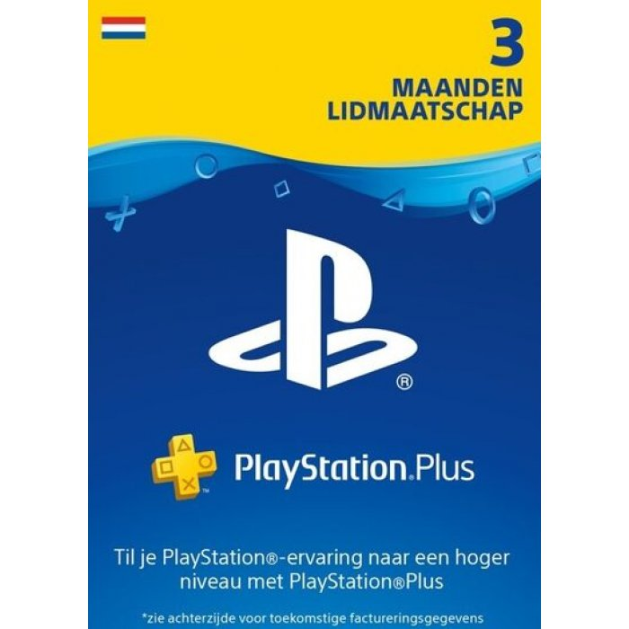PlayStation Plus 3 Maanden - PSN PlayStation Network Kaart (NL)