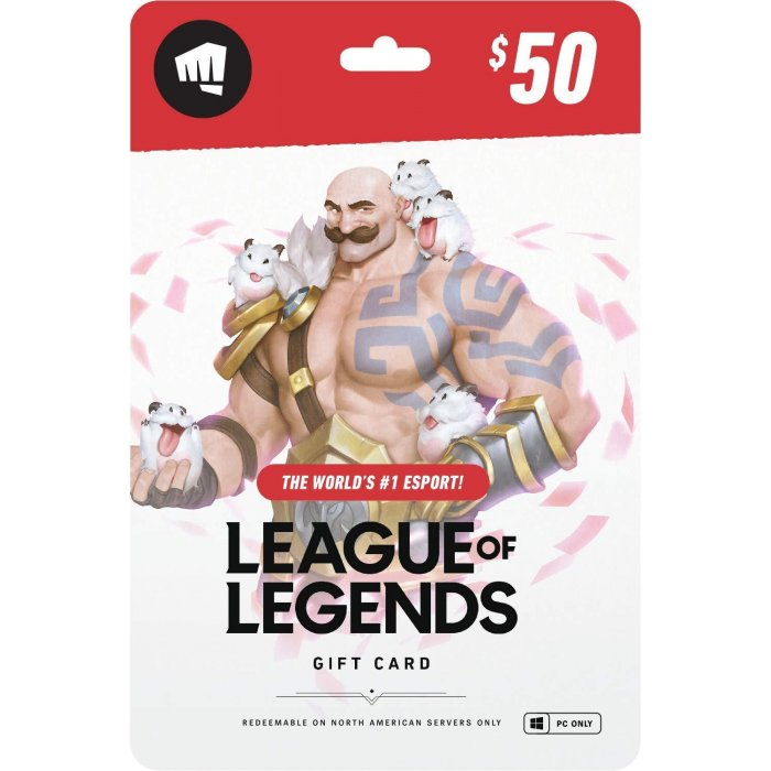 League of Legends $50 Gift Card - NA Server Only
