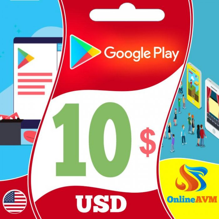 Google Play Gift Card 10$ Google Play Card