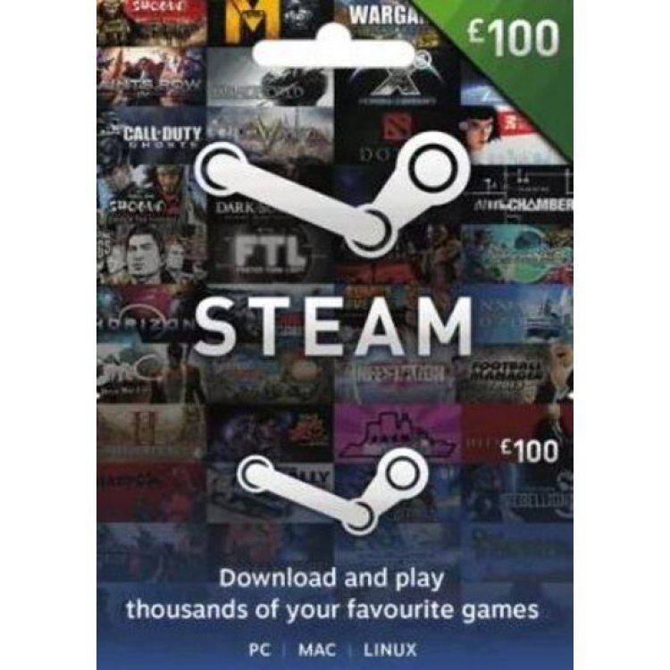 Steam Gift Card 100 GBP Steam Wallet Key GLOBAL