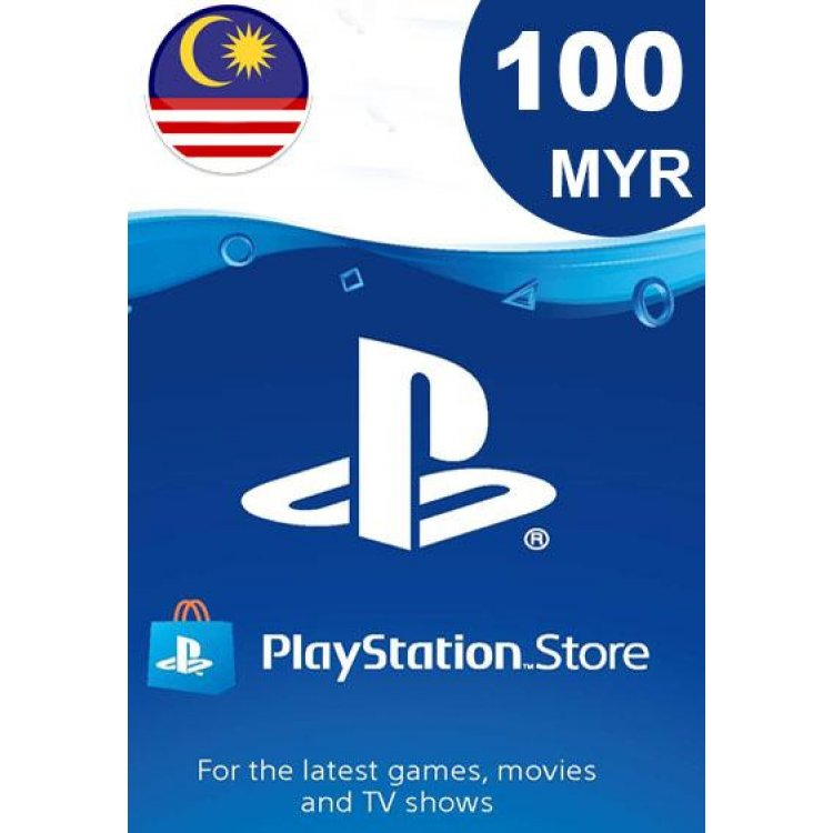 PlayStation Network Card 100 MYR (MY) PSN 100 My Credit Tambah Nilai Malaysia