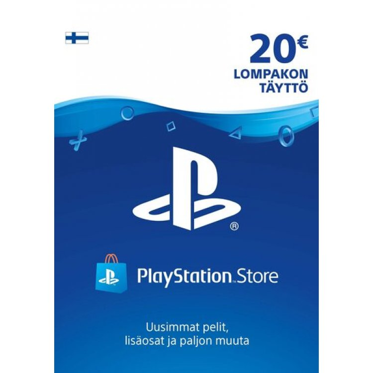 PlayStation Network 20 EUR Lompakon Täyttö PSN Card 20 € Finland