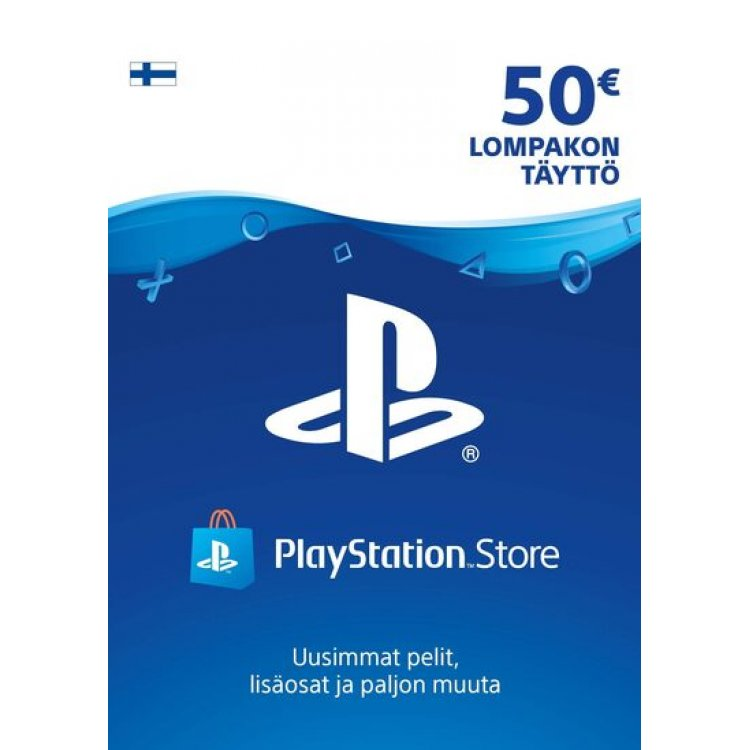 PlayStation Network 50 EUR Lompakon Täyttö PSN Card 50€ Finland