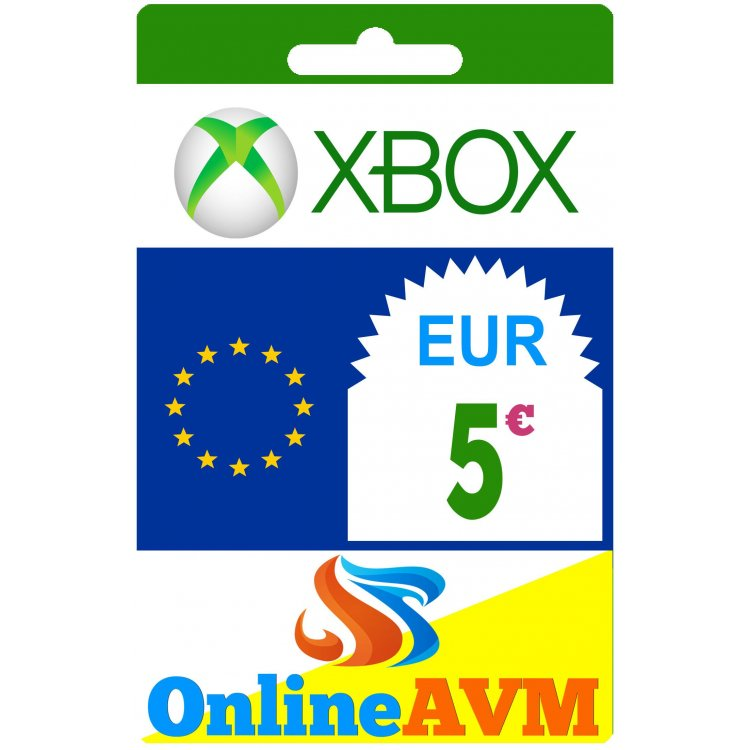 Xbox Live Gift Card 5 Eur Xbox Gift Card 5 Eur