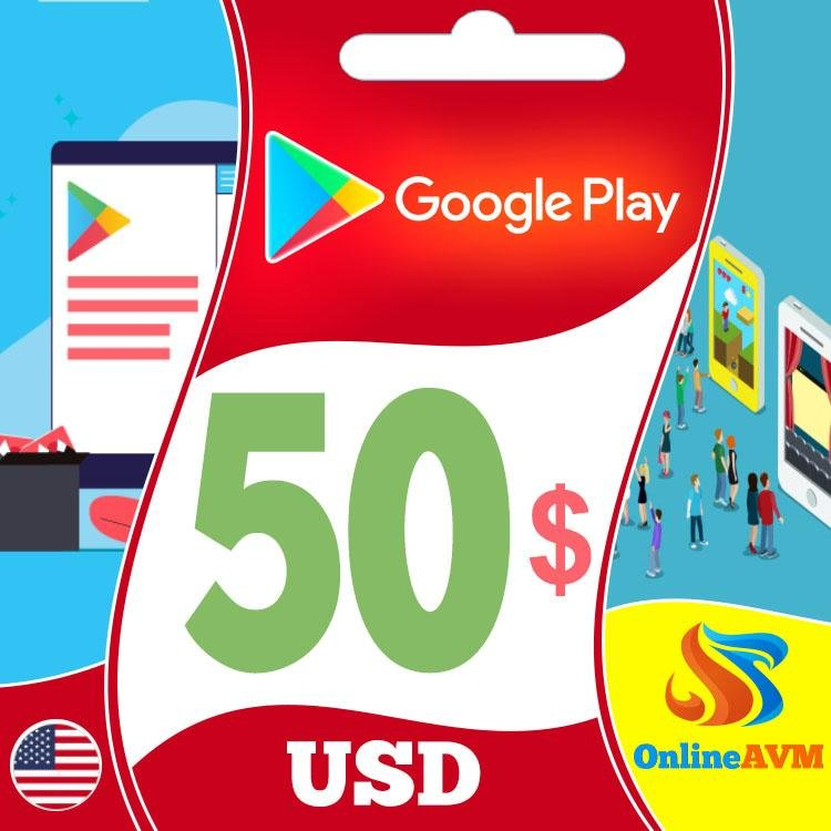 Google Play Gift Card 50 USD UNITED STATES