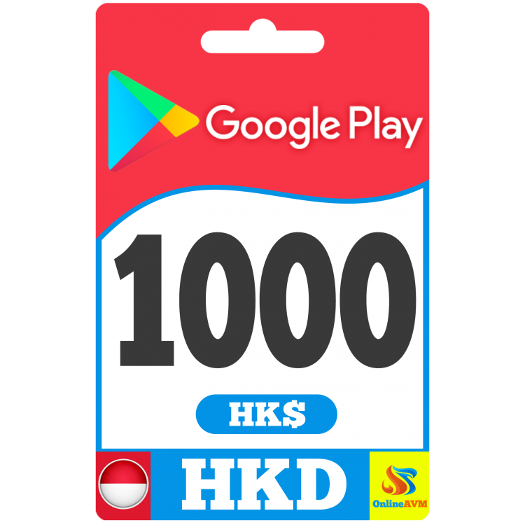 Google Play Gift Card 1000 HKD HONG KONG