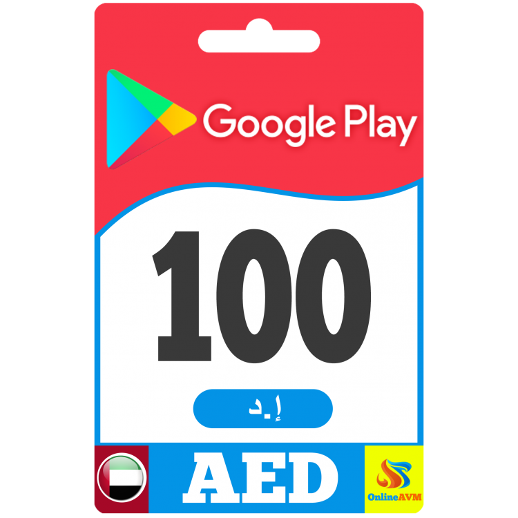 Google Play Gift Card 100 AED - Google Play Key - UNITED ARAB EMIRATES