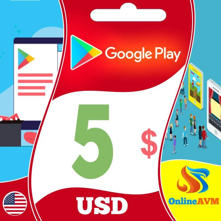 Google Play Gift Card 5 USD UNITED STATES
