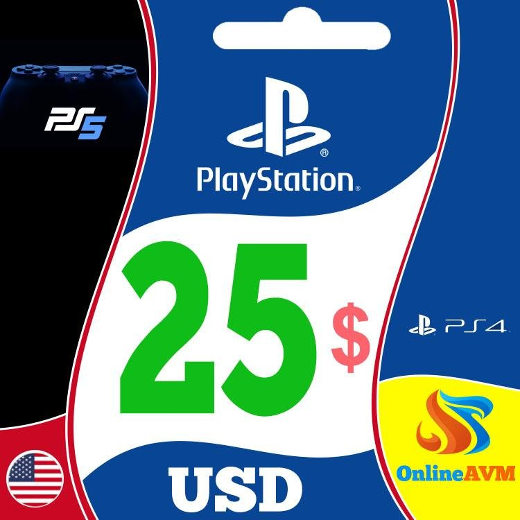 PlayStation Network Gift Card 25 USD PSN United States