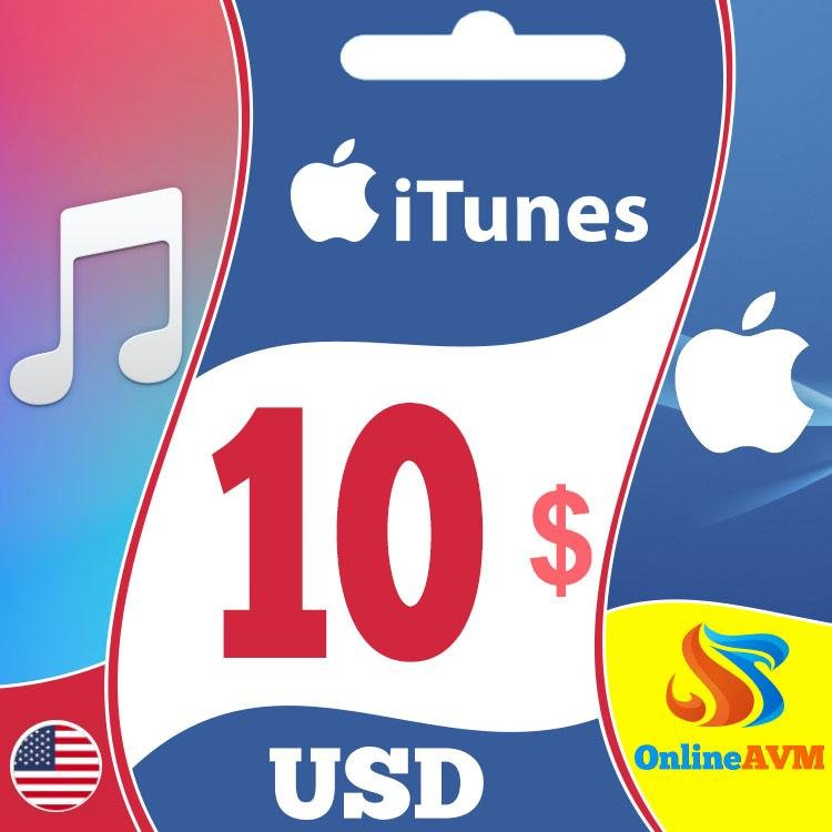 Apple iTunes Gift Card 10 USD iTunes Key UNITED STATES